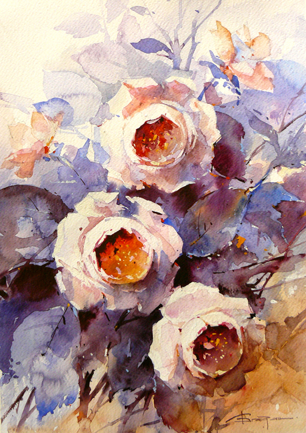 Watercolour-Acuarela-Corneliu-Dragan-Targoviste-floral-1