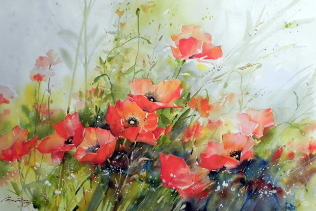 Watercolour-Acuarela-Corneliu-Dragan-Targoviste-floral-10