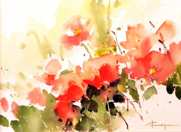 Watercolour-Acuarela-Corneliu-Dragan-Targoviste-floral-15