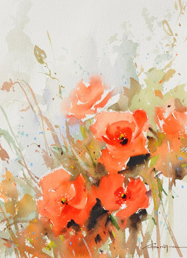 Watercolour-Acuarela-Corneliu-Dragan-Targoviste-floral-16