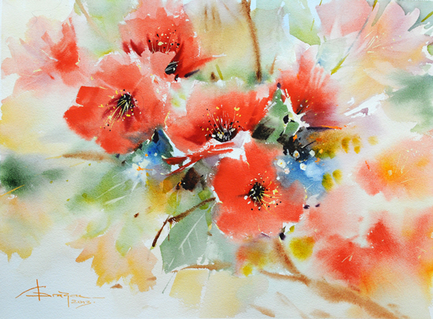 Watercolour-Acuarela-Corneliu-Dragan-Targoviste-floral-17
