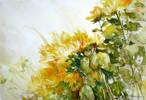 Watercolour-Acuarela-Corneliu-Dragan-Targoviste-floral-18