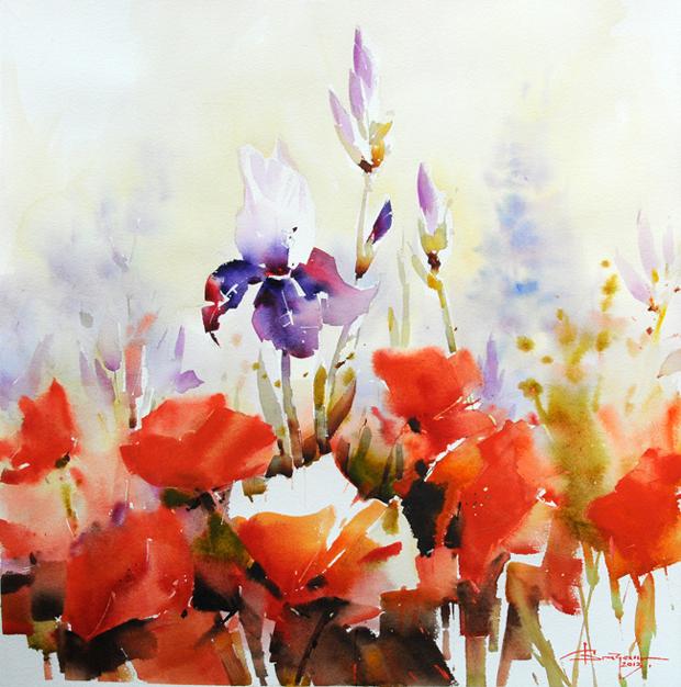 Watercolour-Acuarela-Corneliu-Dragan-Targoviste-floral-2
