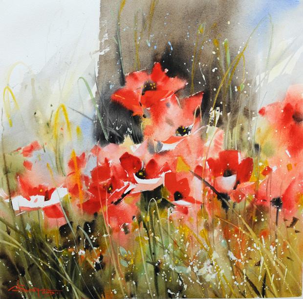 Watercolour-Acuarela-Corneliu-Dragan-Targoviste-floral-20