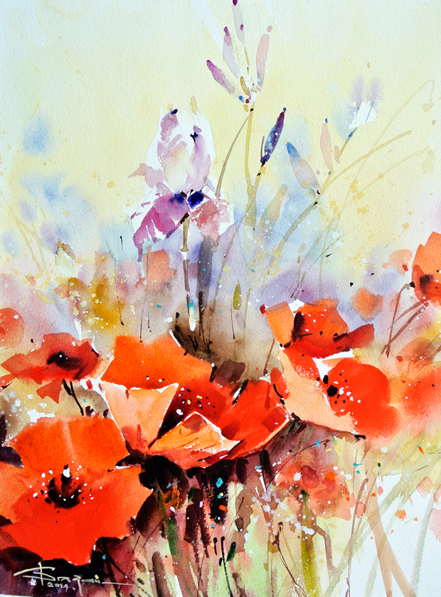 Watercolour-Acuarela-Corneliu-Dragan-Targoviste-floral-21