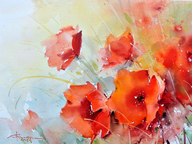 Watercolour-Acuarela-Corneliu-Dragan-Targoviste-floral-22