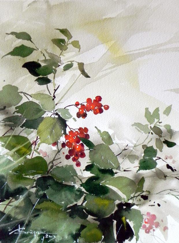 Watercolour-Acuarela-Corneliu-Dragan-Targoviste-floral-24