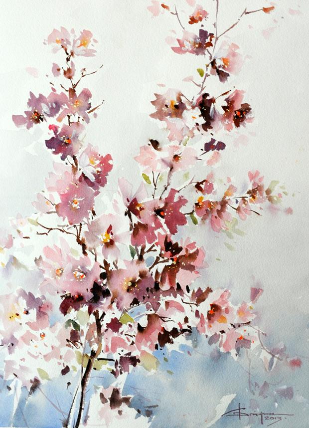 Watercolour-Acuarela-Corneliu-Dragan-Targoviste-floral-3