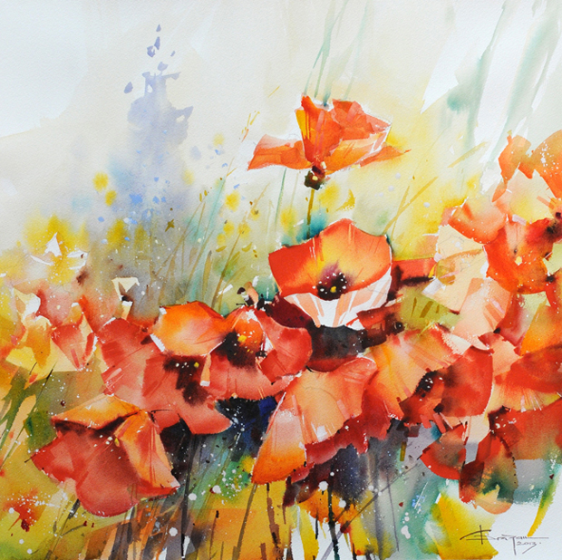 Watercolour-Acuarela-Corneliu-Dragan-Targoviste-floral-4