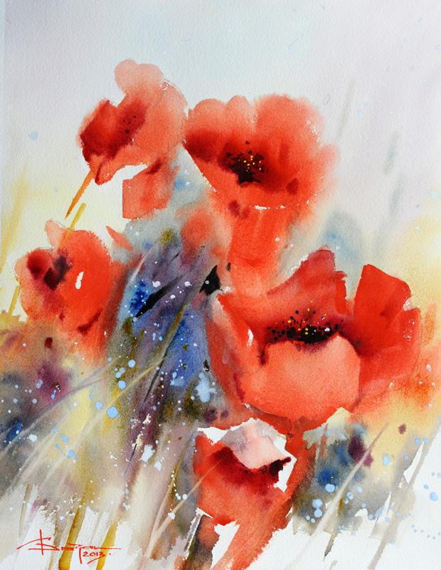 Watercolour-Acuarela-Corneliu-Dragan-Targoviste-floral-7