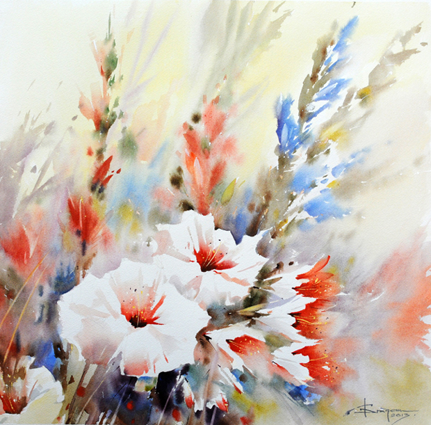 Watercolour-Acuarela-Corneliu-Dragan-Targoviste-floral-8