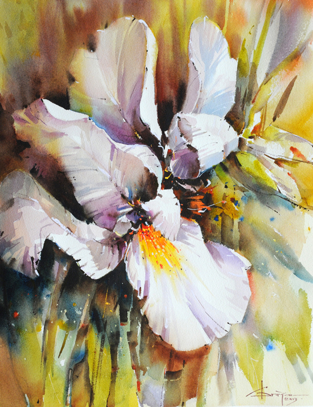 Watercolour-Acuarela-Corneliu-Dragan-Targoviste-floral-9