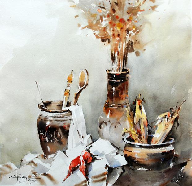 Watercolour-Acuarela-Corneliu-Dragan-Targoviste-natura-moarta-compozitie-27