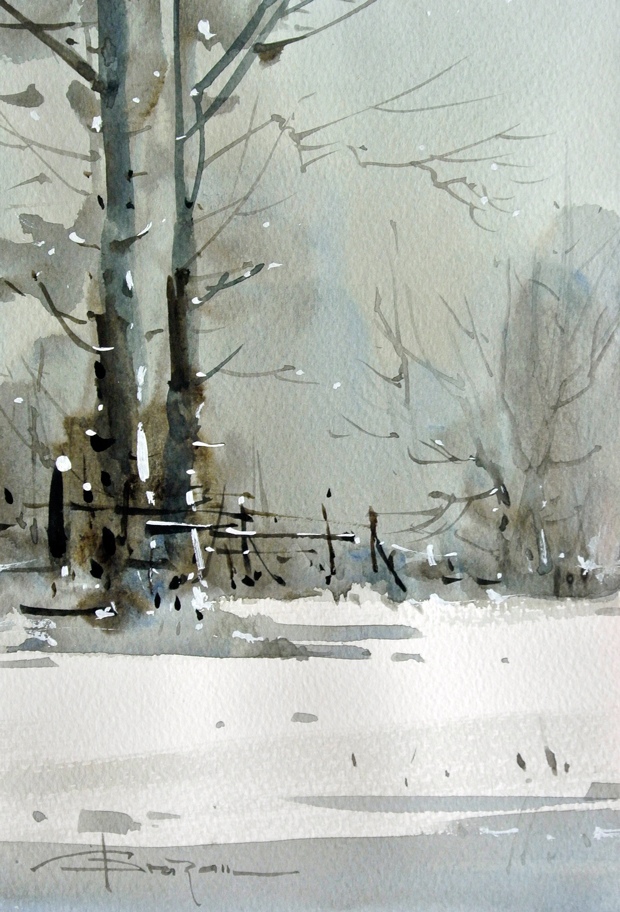 Watercolour-Acuarela-Corneliu-Dragan-Targoviste-peisaj-rural-28