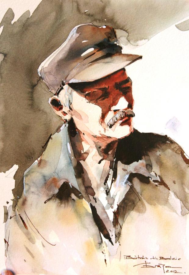 Watercolour-Acuarela-Corneliu-Dragan-Targoviste-portret-3