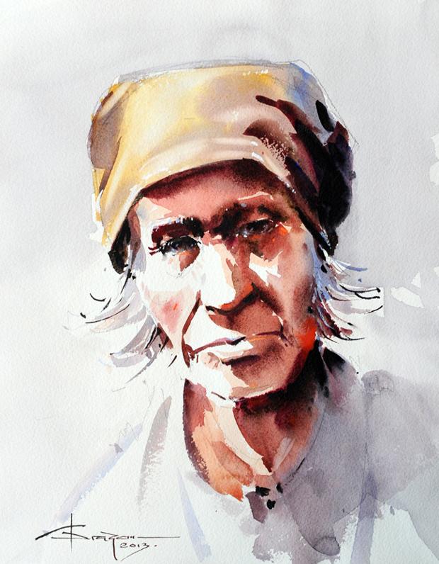 Watercolour-Acuarela-Corneliu-Dragan-Targoviste-portret-5