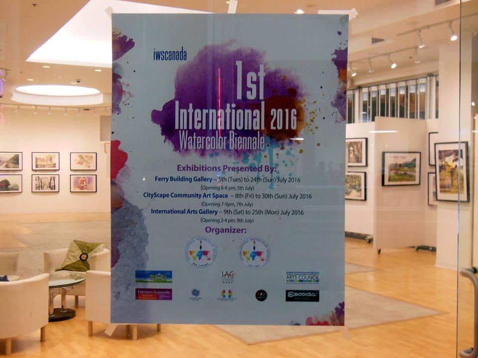 International Watercolour Biennale – Canada,  1    Vancouver, 5 – 25 iuly 2016  Corneliu Drăgan-Târgoviște
